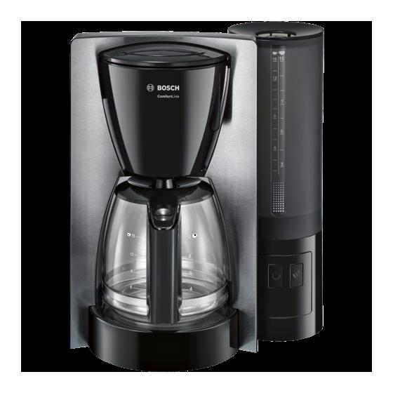 Кафемашина за шварц кафе Bosch ComfortLine TKA6A643, 1200W, 1.25 л, черен/инокс
