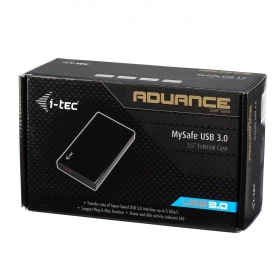 Кутия HDD Хард диск iTEC MYSAFE Advanced 3.5 инча  USB 3.0