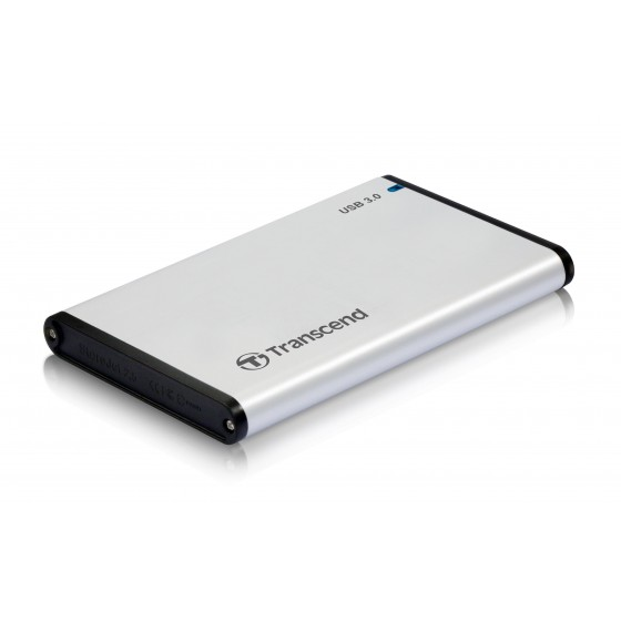 Кутия за твърд диск Transcend StoreJet 2.5' S3 (SATA), USB 3.0, Aluminum housing