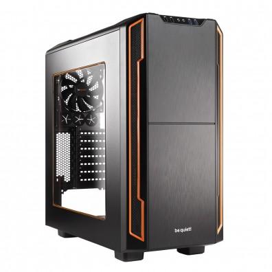 Кутия за компютър SILENT BASE 600 Orange Window