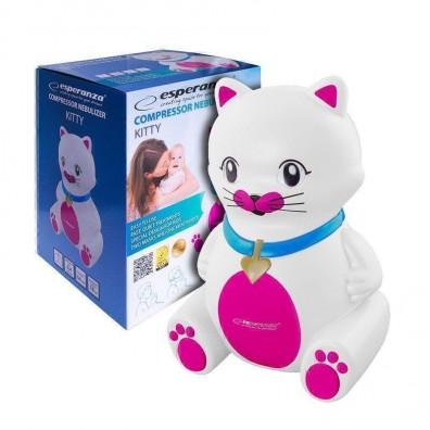 Инхалатор Esperanza Kitty, aерозолен апарат с компресор, за деца и възрастни