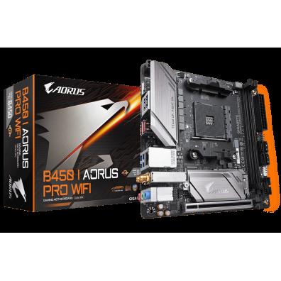 Дънна платка Gigabyte B450 I AORUS PRO WIFI 1.0 M AM4 DDR4-3200 USB 3.1+Type C DVI-D/HDMI