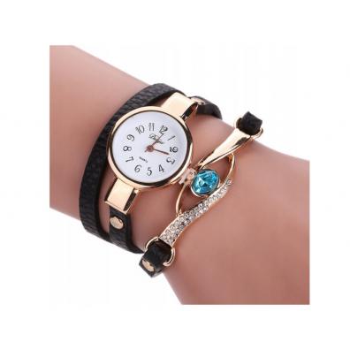 Ръчен часовник гривна Duoya с диаманти и елегантна каишка