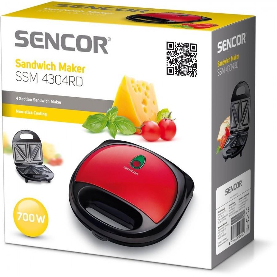 Тостер за сандвичи Sencor SSM 4304RD