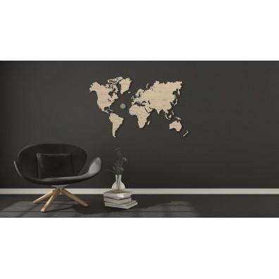 3D Пъзел Wooden city дървена карта на света (World map) size ХL