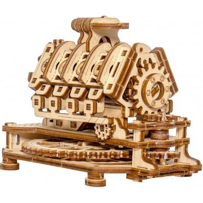 3D пъзел Wooden City V8 двигател
