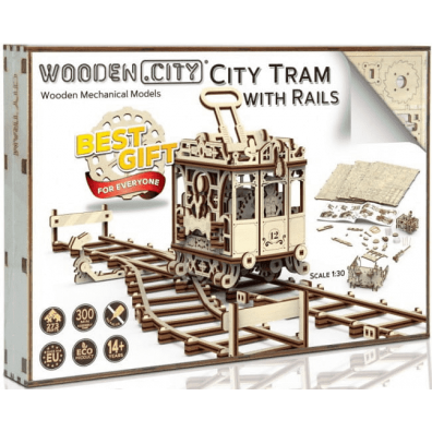 3D пъзел Wooden City трамвай (tram)