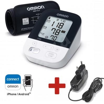 Апарат за кръвно OMRON M4 Intelli IT HEM-7155T-EBK + АДАПТЕР, Bluetooth
