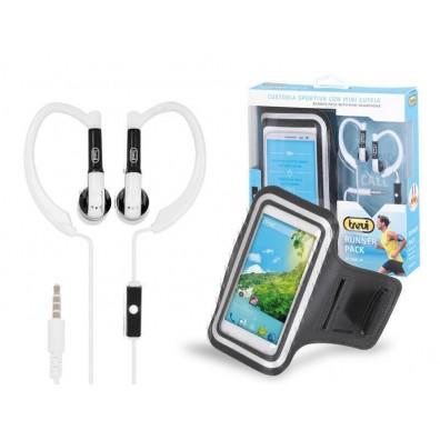 Слушалки с микрофон за спортуване + калъф за смартфони Trevi JR 660 M
