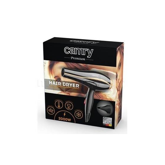 Професионален Сешоар Camry CR 2245, 2000W, 3 температури, 2 скорости, Черен