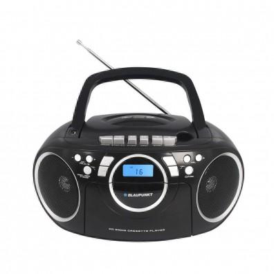 Микросистема Blaupunkt BB16BK, Касетофон, FM, CD, USB, Черна