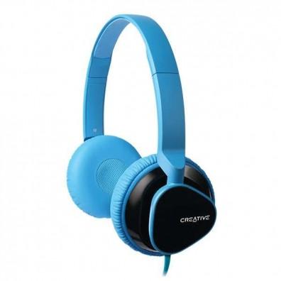 Стерео слушалки Creative MA2300, Плосък кабел, Микрофон, Син