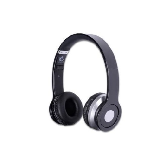 Безжични Bluetooth Стерео слушалки с микрофон Rebeltec CRISTAL, черни