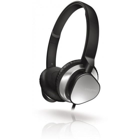 Стерео слушалки Creative MA2300, Плосък кабел, Микрофон, Черен