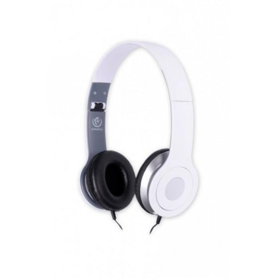 Стерео слушалки с микрофон Rebeltec CITY, бели, Дължина на кабела 1.2 м