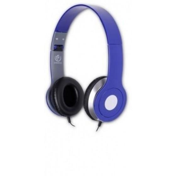Стерео слушалки с микрофон Rebeltec CITY, сини, Дължина на кабела 1.2 м