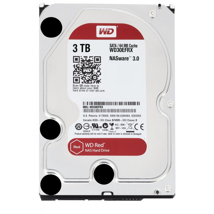 HDD Хард диск 3TB SATAIII WD Red 64MB for NAS (3 years warranty)
