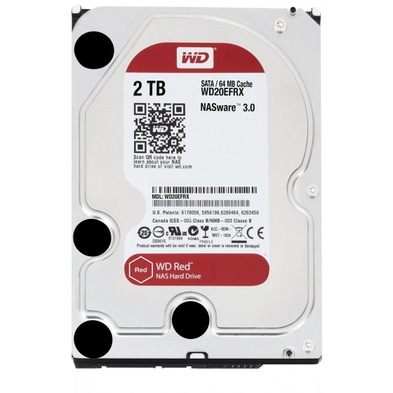 HDD Хард диск 2TB SATAIII WD Red 64MB for NAS (3 years warranty)
