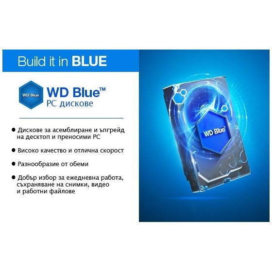 HDD Хард диск 2TB WD Blue 3.5 ' SATAIII 64MB (2 years warranty)