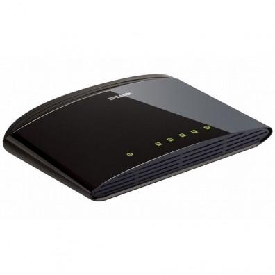 Мрежов суич D-Link DES-1005D/E неуправляем 5-Port 10/100Mbps Fast Ethernet